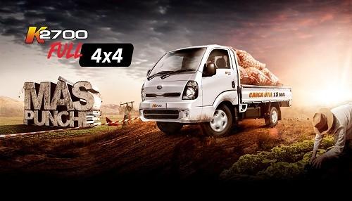 KIA presenta su nuevo K2700 Full 4x4: un todoterreno ideal para el trabajo
