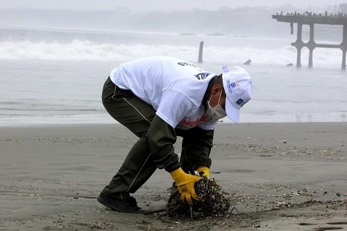 Industria pesquera peruana se suma a limpieza internacional de playas