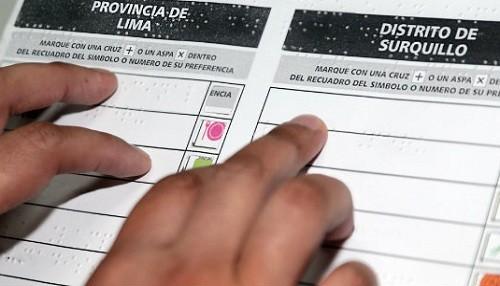 ONPE distribuirá más de 12 mil plantillas braille para electores con discapacidad visual