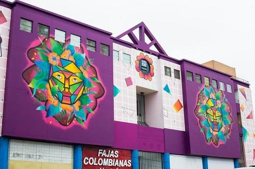 Estudiante diseña mural gigante para zona comercial del Óvalo Higuereta