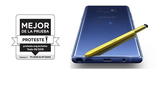 Galaxy Note9 es considerado el mejor smartphone en América Latina por PROTESTER