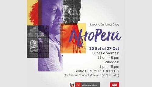 Presentan exposición fotográfica 'Afroperú' en el Centro Cultural Petroperú