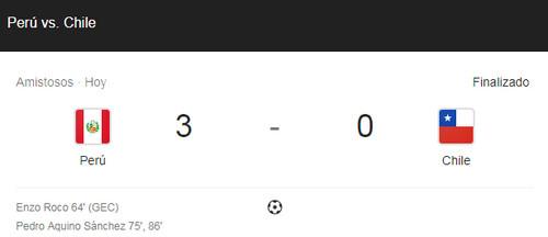 Selección peruana derrotó categoricamente a la chilena: 3-0