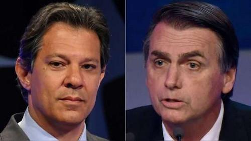 A falta de debate televisivo, Jair Bolsonaro y Fernando Haddad cruzan armas en Twitter