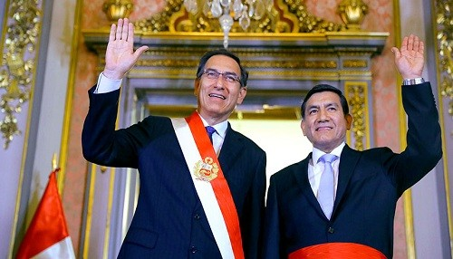 Presidente Mafrtín Vizcarra tomó juramento a nuevo ministro del Interior