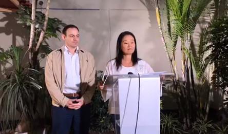 A pocas horas de la audencia de prisión preventiva en su contra, Keiko Fujimori lanza llamado para el 'diálogo sincero'