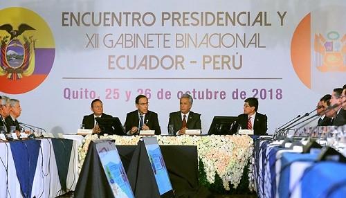 Presidente Martín  Vizcarra habló sobre la consolidación de la paz entre Perú y Ecuador