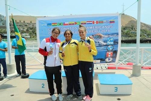 Mariale Bramont Arias consiguió medalla de plata en Aguas Abiertas