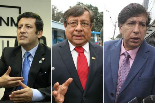Iván Noguera, Guido Águila y Orlando Velásquez, exmiembros del CNM, impedidos de salir del país por orden del Poder Judicial