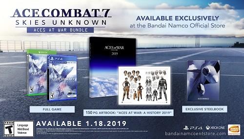 Ace Combat 7: Aces at War Bundle llega exclusivamente en la tienda oficial de Bandai Namco Entertainment America de EE.UU.