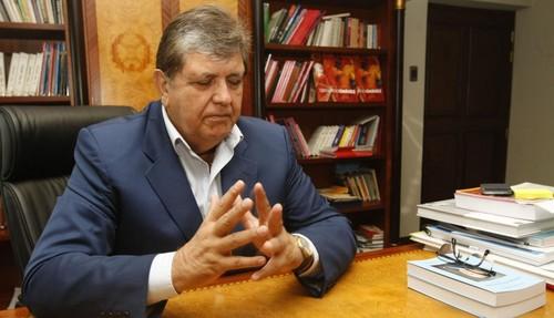 Tras la negativa de asilo, Alan García fue a dar a su casa  en el distrito de Miraflores