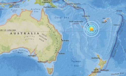 Terremoto de 7,5 grados sacudió a Nueva caledonia