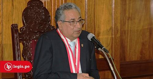 Vocal supremo José Lecaros fue elegido presidente de la Corte Suprema para el periodo 2019-2020