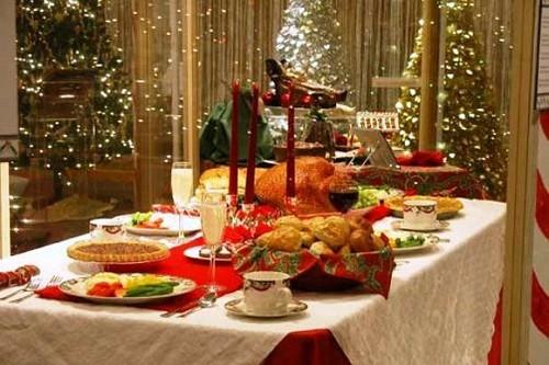 Una mesa de Navidad