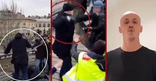 Francia: miles de personas donaron dinero al excampeón de boxeo que se lió a golpes con la policía en la octava manifestación de los 'chalecos amarillos'