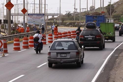 Municipio de Lima presentó plan de desvío por obras de ampliación en la Costa Verde