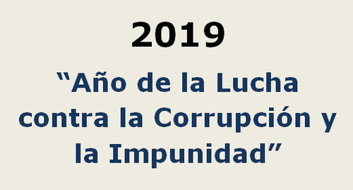 El 2019 es en el Perú el 'Año de la Lucha contra la Corrupción y la Impunidad'