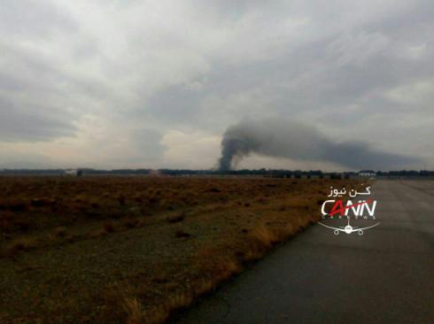 Irán: un avión de carga se estrella cerca de Teherán