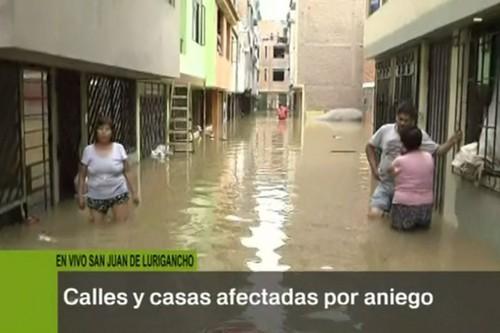 San Juan de Lurigancho: aguas servidas invaden calles del distrito