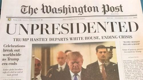Falsa edición de 'The Washington Post' anunció renuncia de Donald Trump