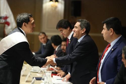 Presidente de Asamblea Nacional de Gobiernos Regionales, Mesías Guevara, reafirma compromiso de gobernadores regionales en lucha contra corrupción