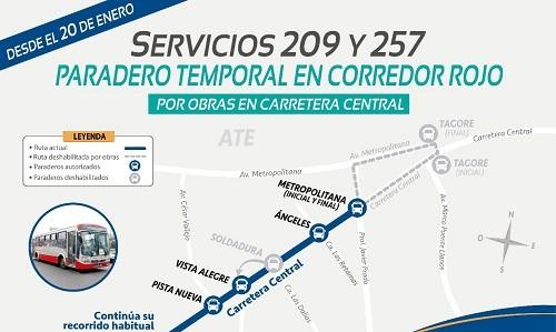 Municipalidad de Lima: corredor Javier Prado varía paraderos en Ate