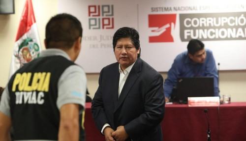 Poder Judicial desestima prisión preventiva contra Edwin Oviedo, en caso 'Cuellos Blancos del Puerto'