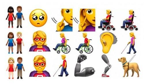 Los activistas de la discapacidad dan visto bueno a nuevos emojis para este año