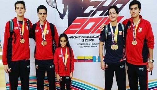 Squash peruano logra cinco medallas en Sudamericano Juvenil 2019