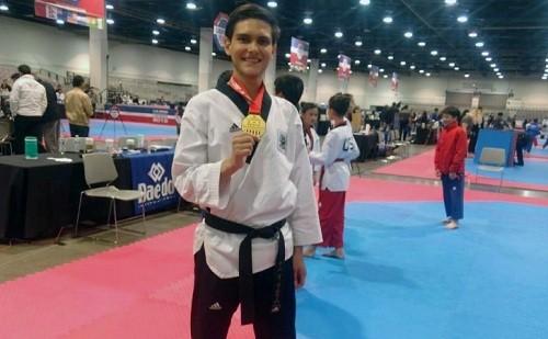 El peruano Hugo del Castillo consigue medalla de oro en el U.S. Open de Taekwondo