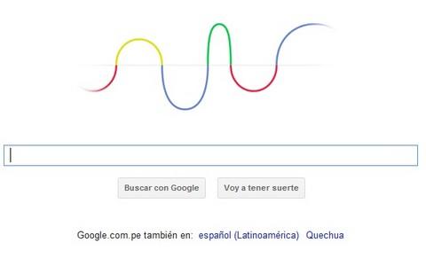 'Doodle' de Google recuerda los 155 años de nacimiento de Heinrich Rudolf Hertz