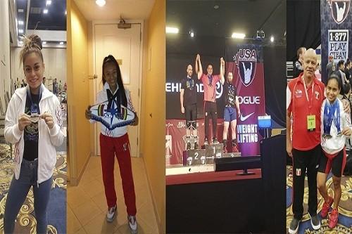 Delegación peruana de levantamiento de pesas consigue medallas en Las Vegas