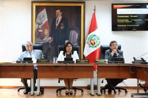 Comisión de ética recomienda suspensión de 120 días a Lescano