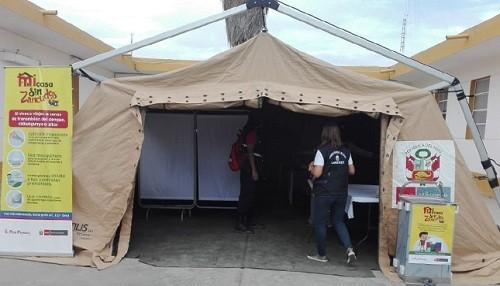 Lambayeque: instalan carpa de contingencia en centro de salud de Ferreñafe para continuar con acciones de lucha contra el dengue