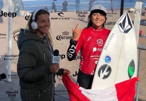 Daniella Rosas gana Torneo de Surf en Mar Del Plata