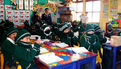Minedu recomienda flexibilizar horarios en escuelas altoandinas por heladas y friaje