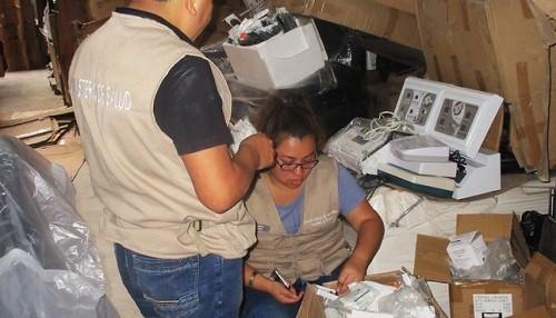 Incautan ocho toneladas de equipos de uso dermatológico sin registro y cosméticos vencidos peligrosos para la salud