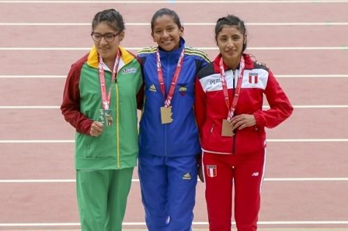Primera medalla para Perú en Sudamericano De Atletismo