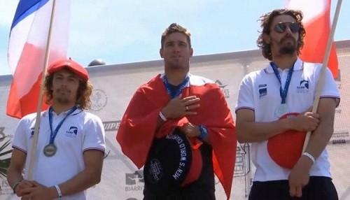 Piccolo Clemente campeón del mundo de Longboard en Francia
