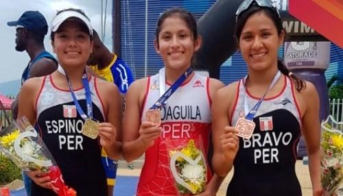 Peruanas destacan en Panamericano de Acuatlón