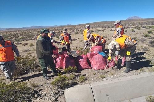 Cerca de 20 toneladas de residuos son recolectados durante jornada de limpieza en Reserva Nacional de Salinas y Aguada Blanca