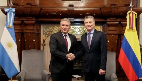 Colombia y Argentina intercambiarán información para fortalecer la lucha contra el narcotráfico y la corrupción transnacional