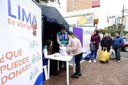 Municipalidad de Lima lanza campaña 'Lima te abriga' por bajas temperaturas