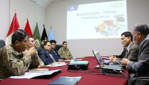 ONPE coordinó con CCFFAA acciones de seguridad para despliegue y repliegue de material electoral en 12 distritos del país
