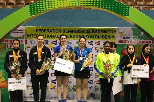 Bádminton logra medallas en el Benin International 2019