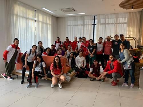 Selecciones de damas y varones de waterpolo continúan base de entrenamiento en Brasil