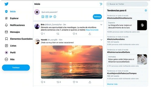 El rediseño del escritorio de Twitter adopta algunas de las mejores características de su aplicación móvil