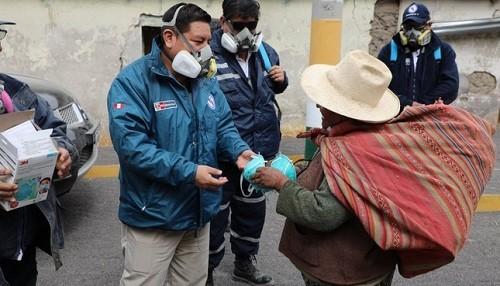 Minsa envía 25 mil mascarillas para la población afectada por deslizamiento de cerro en Apurímac
