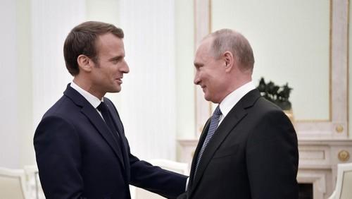 Ucrania ocupa un lugar destacado en la agenda mientras Macron recibe a Putin en Francia