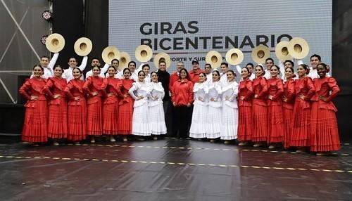 Presentan las 'Giras Bicentenario' de los Elencos Nacionales con espectáculo en Gamarra